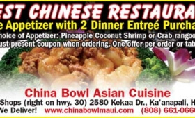 Maui Chinese Food Tip