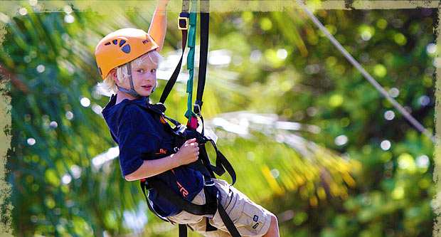 Kids Fun at Maui Zipline